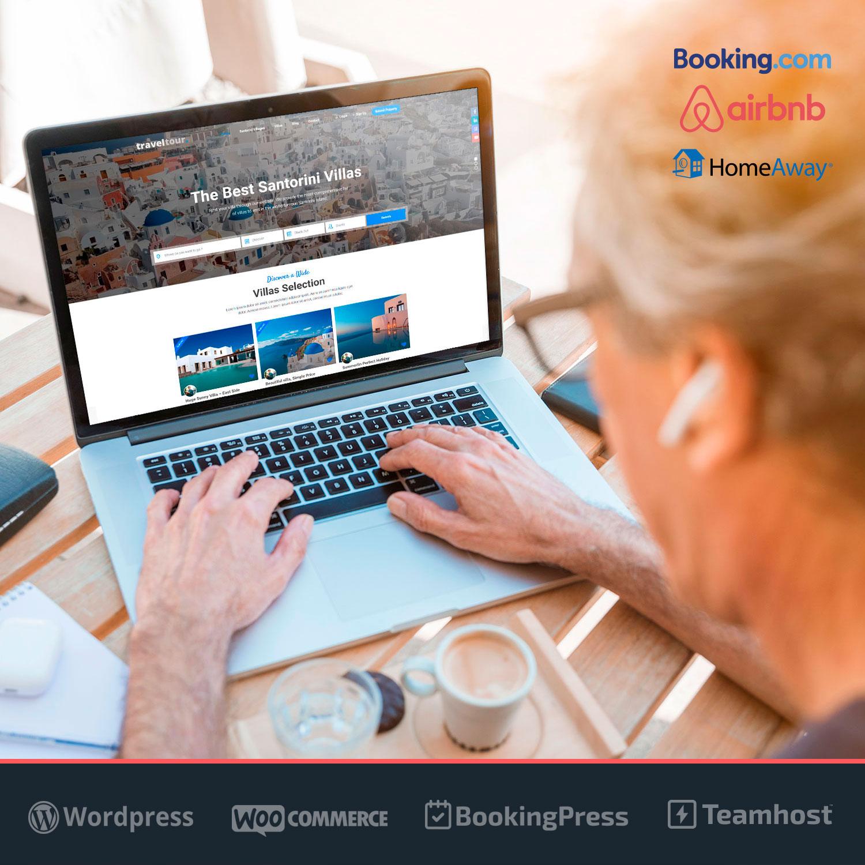 Alquileres Vacacionales calendario de disponibilidad en WordPress TravelTour