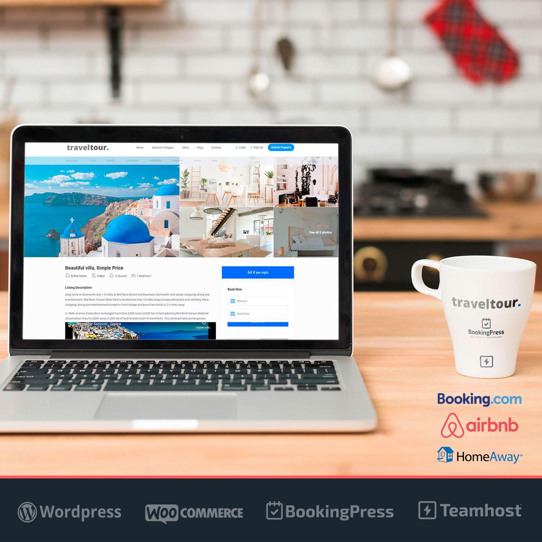 Reservas online de Alquileres Vacacionales con WordPress TravelTour