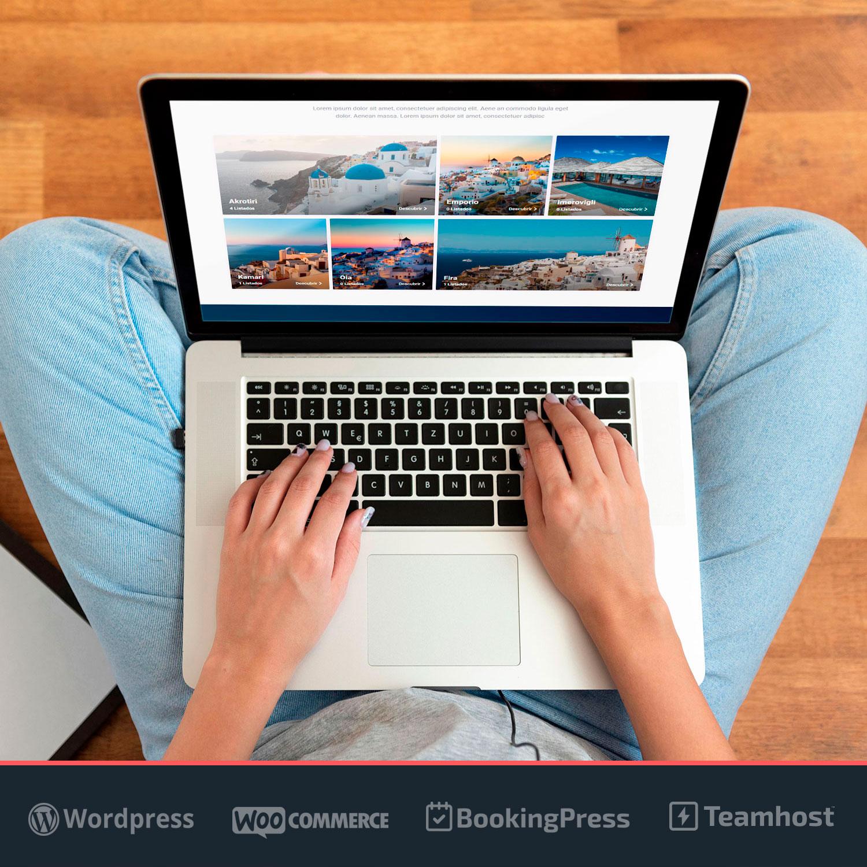 Diseño Web WordPress de Alquileres Vacacionales TravelTour