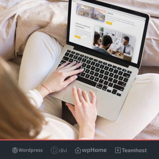 Plantilla Canva WordPress para Inmobiliaria