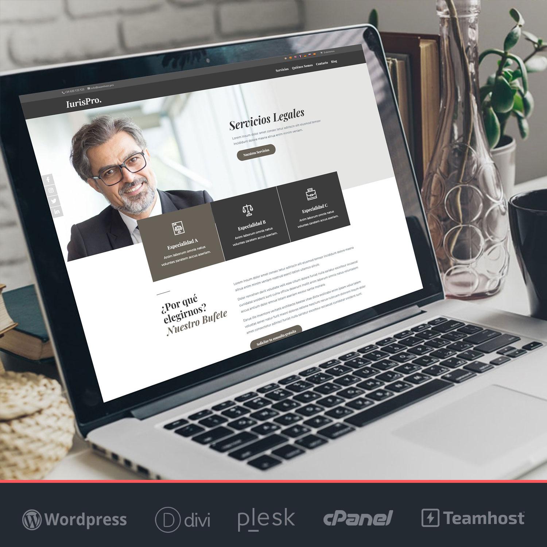 Crear página web para abogados con WordPress