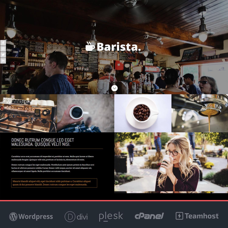 Página web para restaurantes y cafeterías Barista
