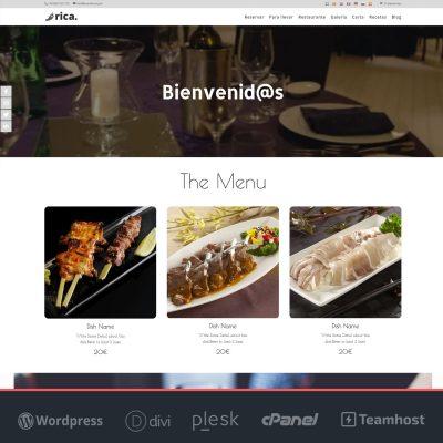 Página web para restaurantes Rica
