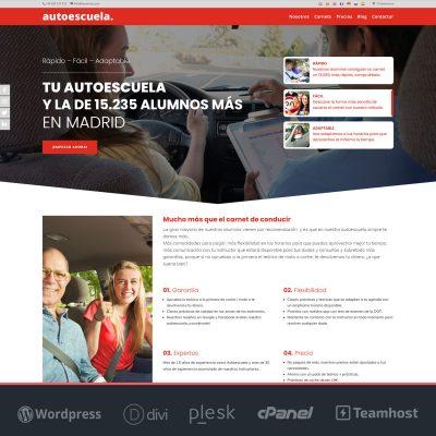 crear pagina web Wordpress Autoescuelas