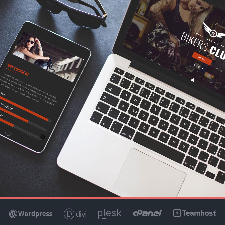 Crear página web en WordPress Bikers