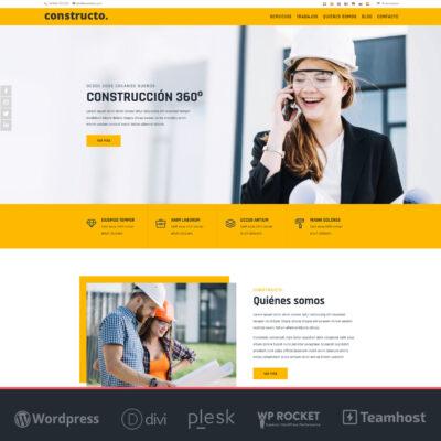 Constructo pagina web construcciones Wordpress y Divi