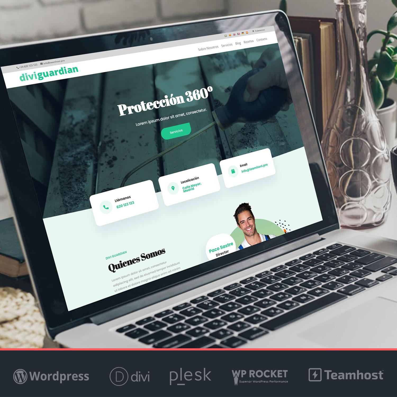 Crear página web WordPress Divi Control de Plagas