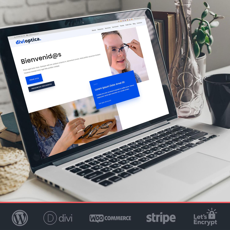 Crear página web WordPress Ópticas