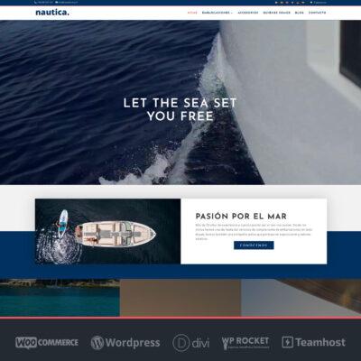 Crear página web para Náutica en WordPress y WooCommerce