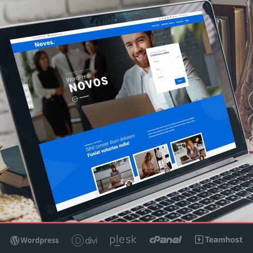 crear pagina web Wordpress Novos