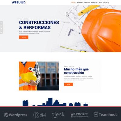 webuild pagina web construcciones wordpress divi