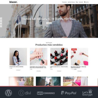 Crear tienda online Woocommerce Blazer