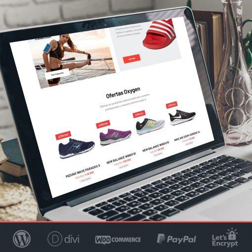 crear tienda online woocommerce Oxygen