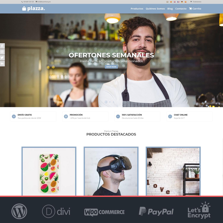 Crear tienda online Woocommerce Plazza
