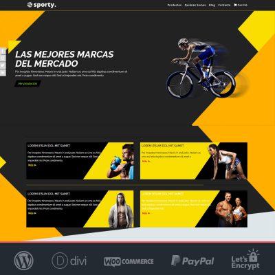 Crear tienda online Woocommerce Sporty