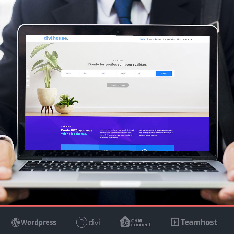 Crear página web Inmobiliaria WordPress Divi House