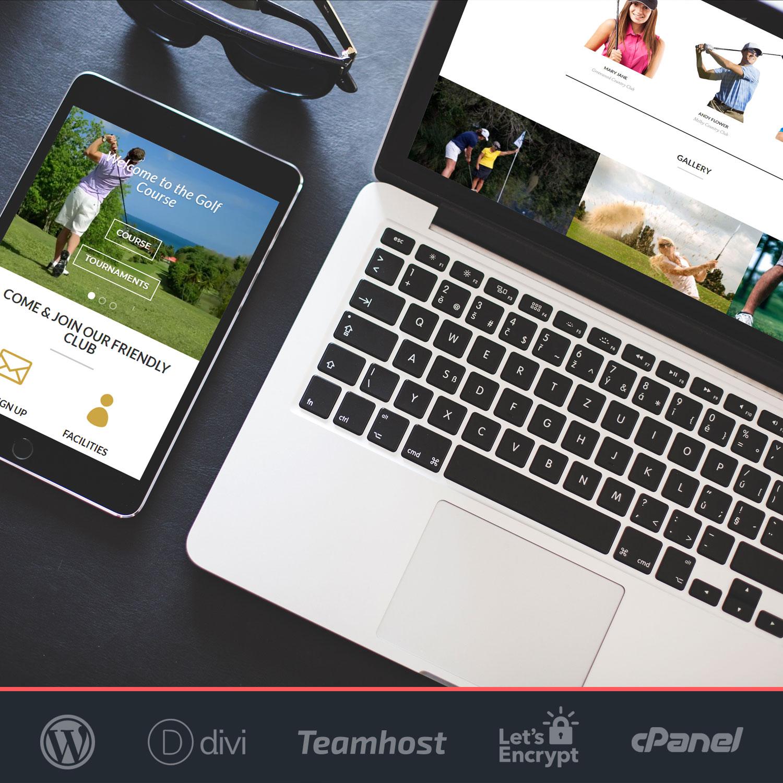 plantilla golf wordpress divi