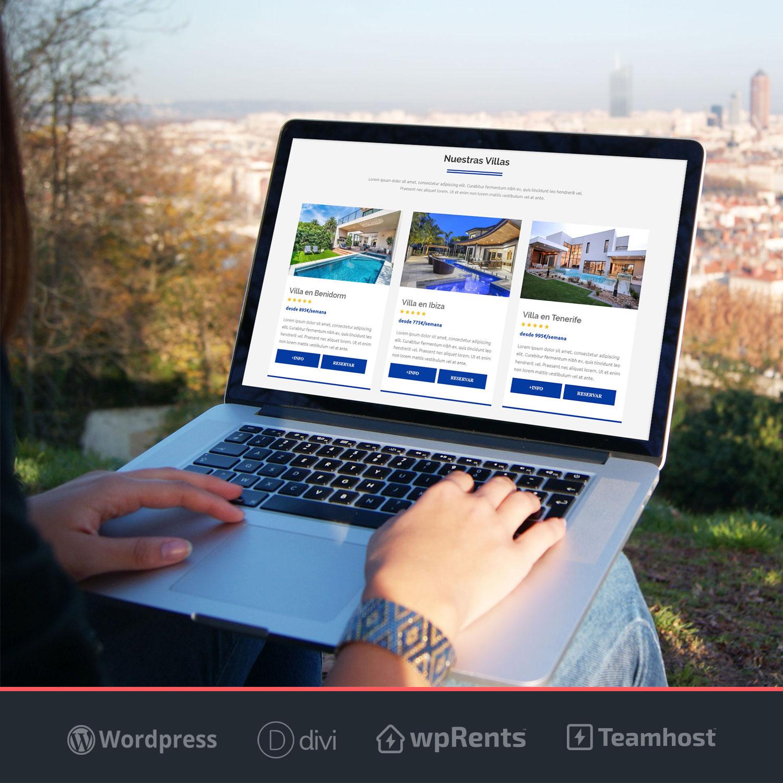 Plantilla WordPress de alquileres vacacionales y alojamiento