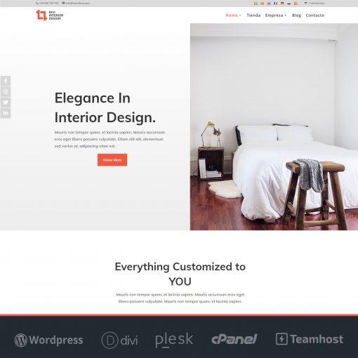 Plantilla web Interiorismo, Muebles y Decoración en WordPress