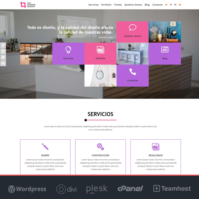 Plantilla WordPress Interiorismo, arquitectura y decoración