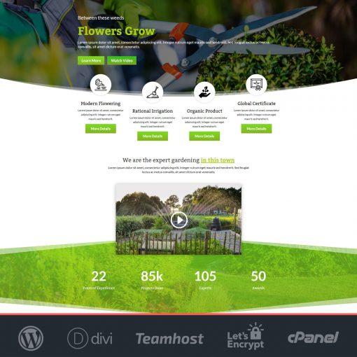 plantilla jardineria wordpress divi