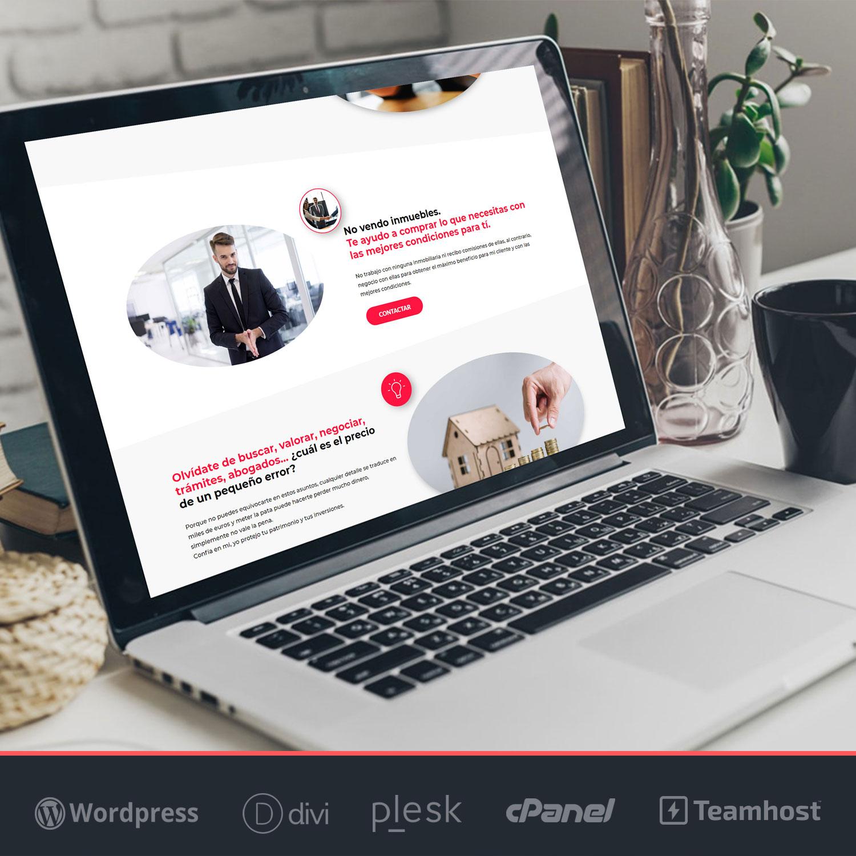 Landing Page WordPress para Inmobiliaria, ejemplo 1