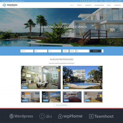 Plantilla Panorama WordPress para Inmobiliaria