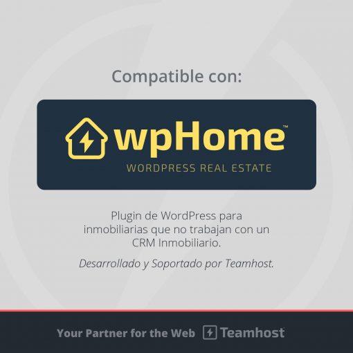 Compatible con Plugin WordPress wpHome para Inmobiliarias