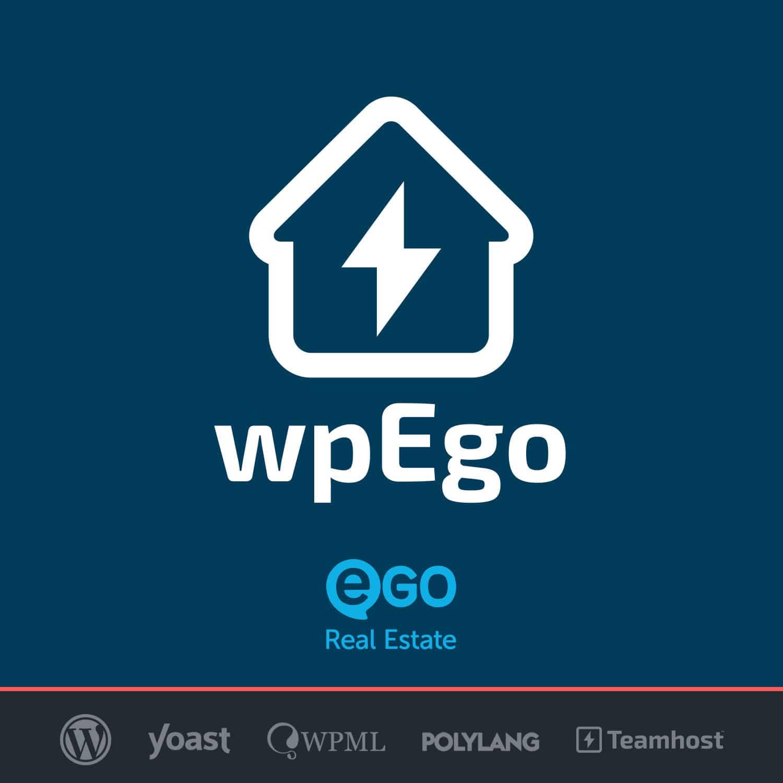 Logo Plugin EGO Real Estate con WordPress