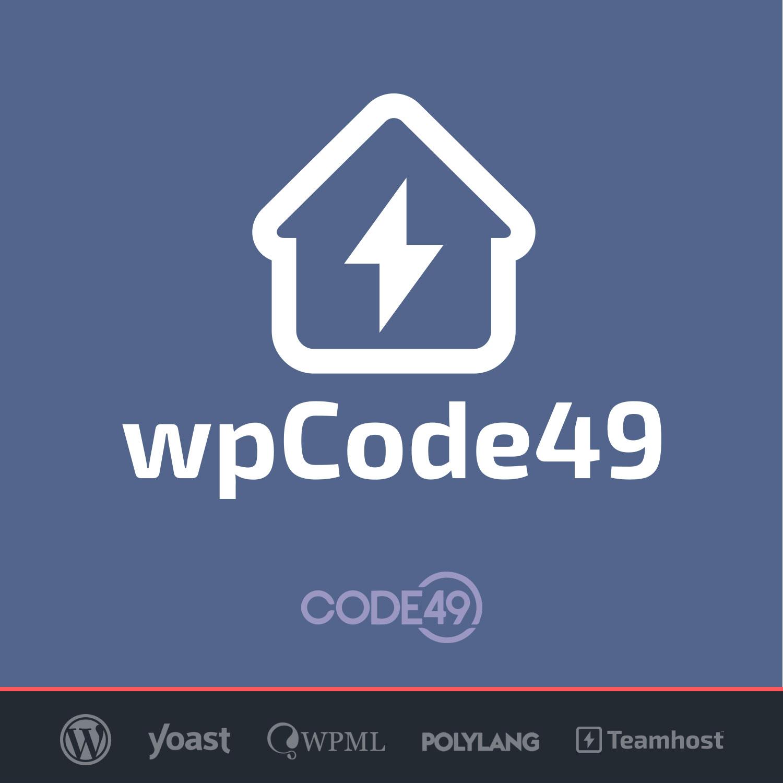 Logo del plugin Wordpress con Code49