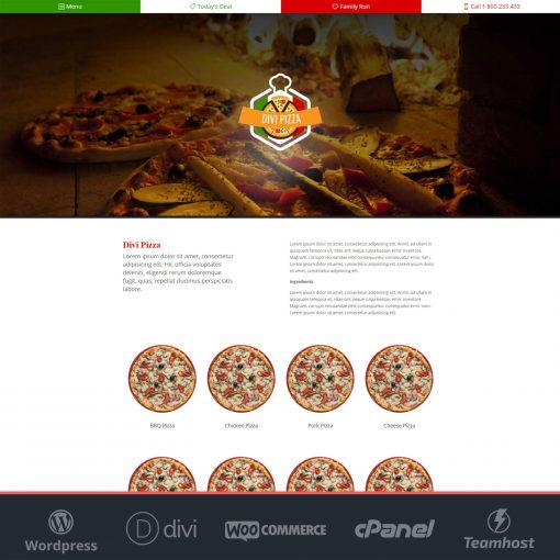 plantilla pizzeria wordpress divi