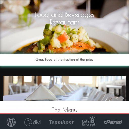 plantilla restaurante wordpress divi