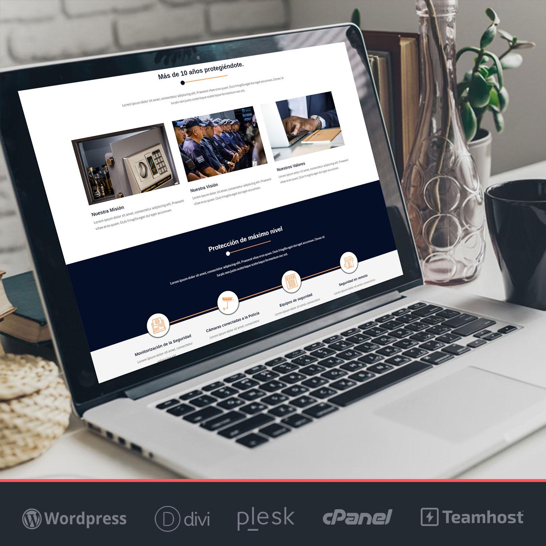 Plantilla WordPress de seguridad y alarmas