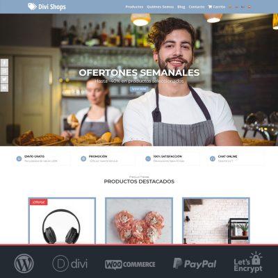 Divi Shops - Plantilla WooCommerce para Tiendas Online