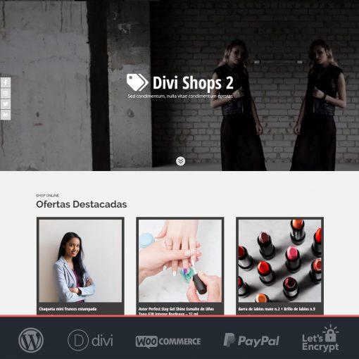 Divi Shops 2 - Plantilla WooCommerce para Tiendas Online