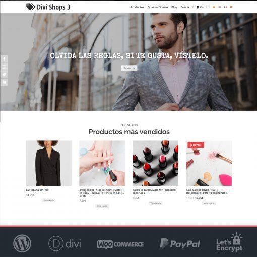 Divi Shops 3 - Plantilla WooCommerce para Tiendas Online