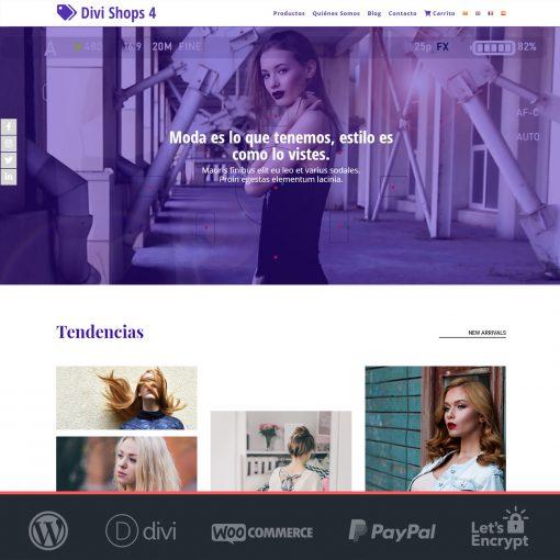 Divi Shops 4 - Plantilla WooCommerce para Tiendas Online