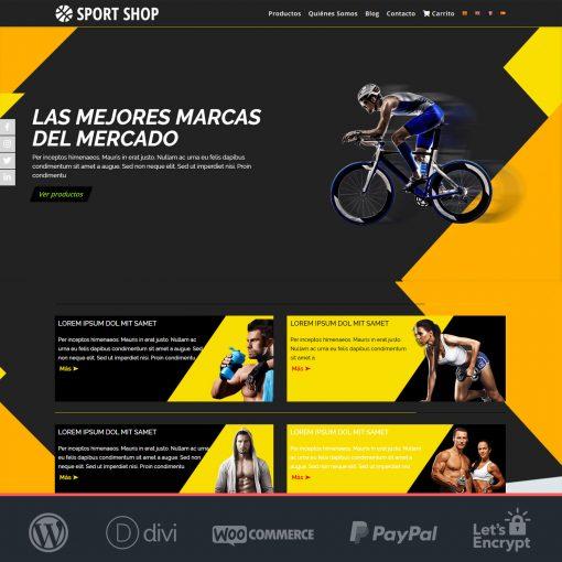 Divi Sport Shop - Plantilla WooCommerce para Tiendas Online