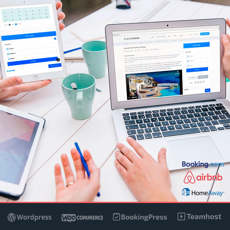 Diseño web Alquiler Vacacional con reservas online TravelTour