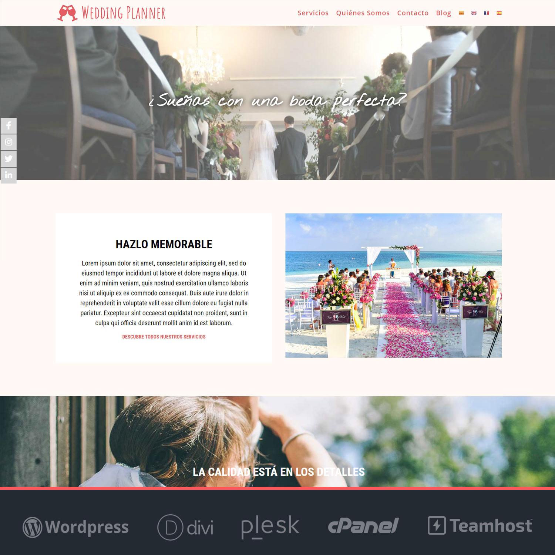 Plantilla WordPress para Wedding Planners